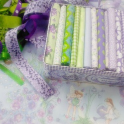 Purple fairy fabric