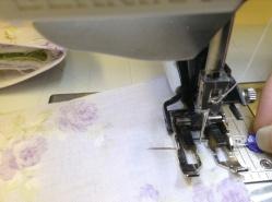 Chicken tea cozy- sewing seam