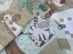 Baby quilt - hand quiling