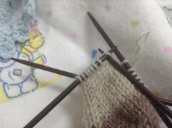 Knit the first stitch