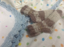 Baby socks with blanket