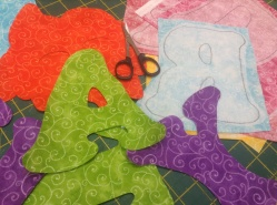 tracing and cutting letters