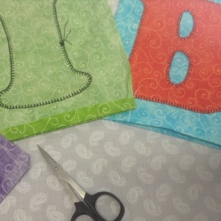 clip corners off, turning seam allowance and pressing