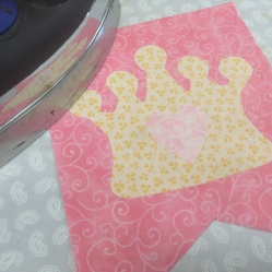 Princess bunting - pressing applique design on