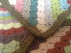 diagonal crochet blanket