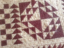 & stitching in the ditch quilting