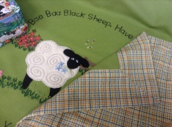 Baa baa black sheep baby blanket