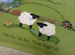 Baa baa black sheep baby blanket