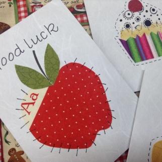 Appliqué cards