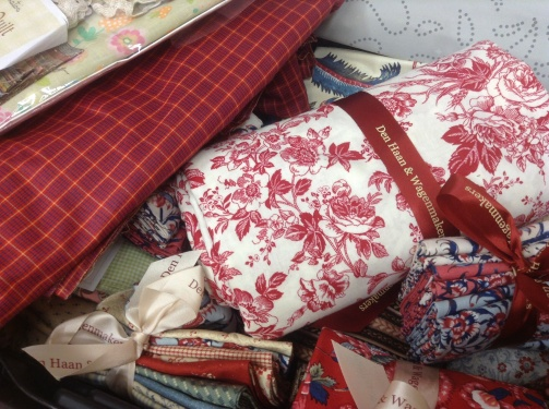 Selection of traditional fabrics purchased @ De Haan & Wagenmakers in Amsterdam