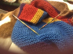 Dr Who knitted scarf