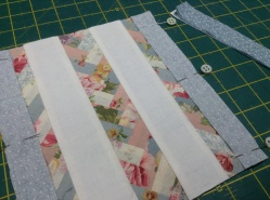 Sew strip B to the centre unit.