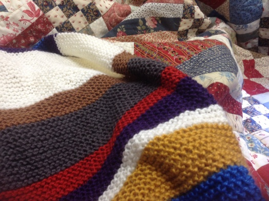 Quilting using embroidery machine and finishing Dr Who Scarf!