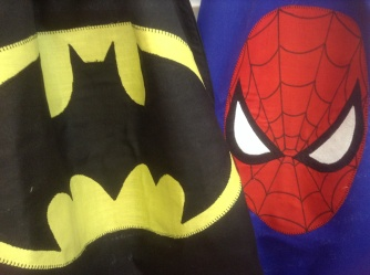 Batman and Spider-Man cape