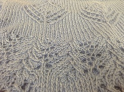 """The pattern is out of """"Heirloom Baby Knits"""" by Deborah Newton, the one I knitted is Pumpkin Pie – Lacy Cardigan Jumper on pg 66"""
