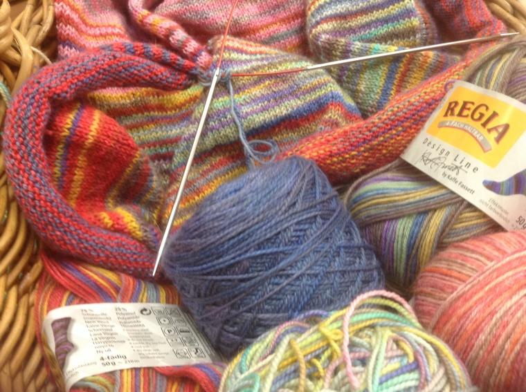 4.  My knitting basket.