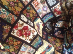 1. A friend of mines finished quilt. All the fabric have a oriental theme.