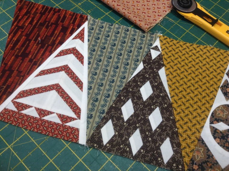 Dear Jane right side border blocks.